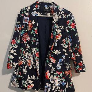 🏷SALE🏷NWOTs Vibrant Navy & Floral Suit Jacket